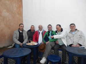La dream team au café Maure à Rabat